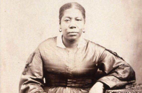 """Jane Manning James, the first documented black woman to come to the Utah territory as a Mormon pioneer (she traveled with a group of women, traversing some 800 miles on foot)."" Caption from http://www.popmatters.com/pm/post/154974-nobody-knows-the-untold-story-of-black-mormons-on-doc-channel-221/"