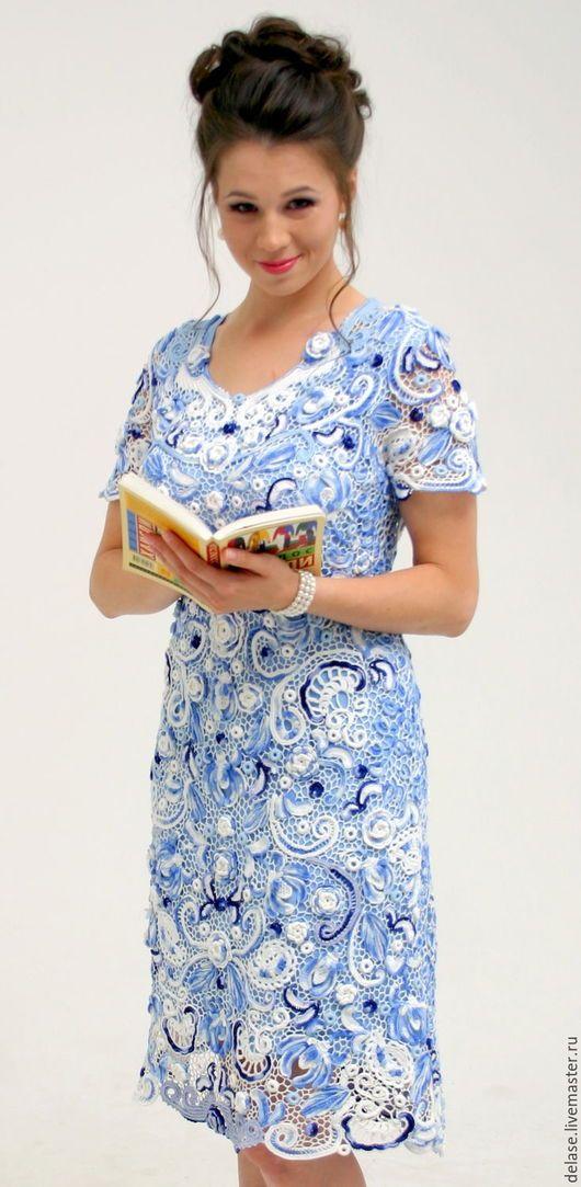 Платье ` Гжель `