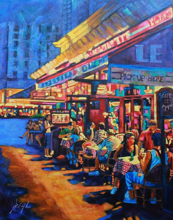 Art Original Oil Painting Landscape People Food & Wine by rbealart