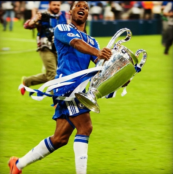 Chelsea FC Didier Drogba champions league final