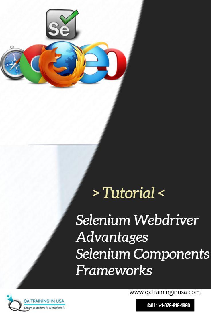 Watch These Selenium Webdriver Advantages Selenium Components Selenium Frameworks For Beginners Selenium Online Training Components
