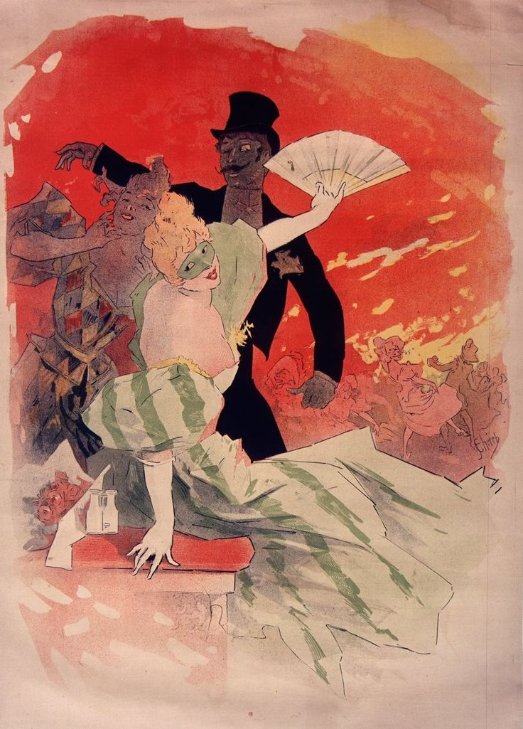[Théâtre de l'Opéra. Carnaval 1896.] | Jules Chéret | 1895 | National Library Of France | Public Domain