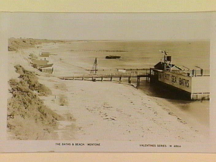 THE BATHS & BEACH. MENTONE [picture] , State Library of Victoria