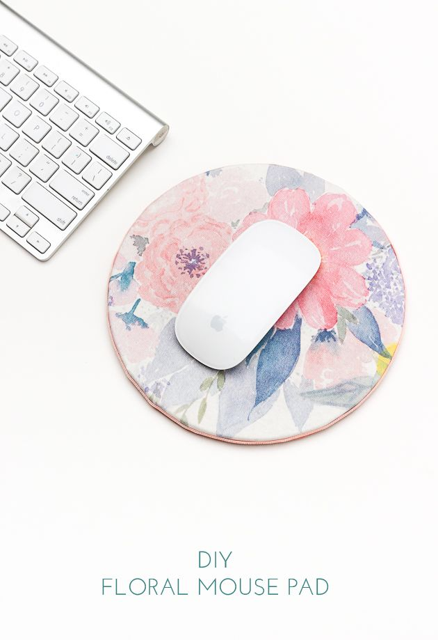 DIY Floral Mouse Pad for Spring | The Crafted Life | Bloglovin'