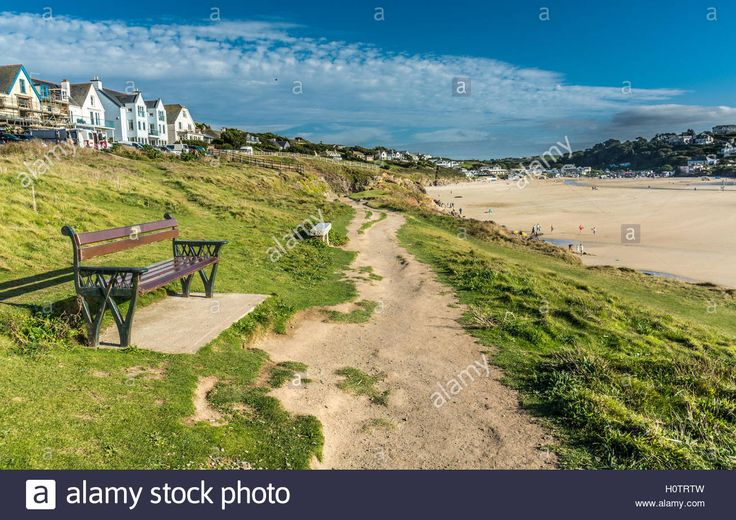 Download this stock image: View of Polzeath in North Cornwall - H0TRTW from…