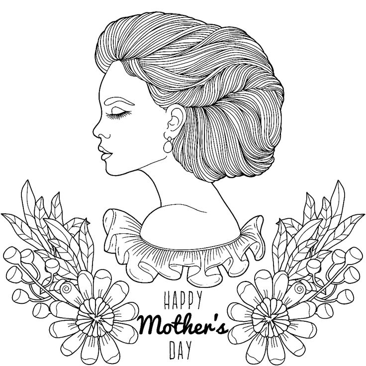 happy mother's day to color  colorado me app  adult
