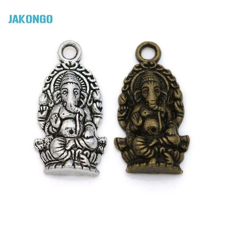15pcs Tibetan Silver Plated Elephant Buddha Charms Pendants for Bracelet Necklace Jewelry Making DIY Handmade Craft 27x14mm