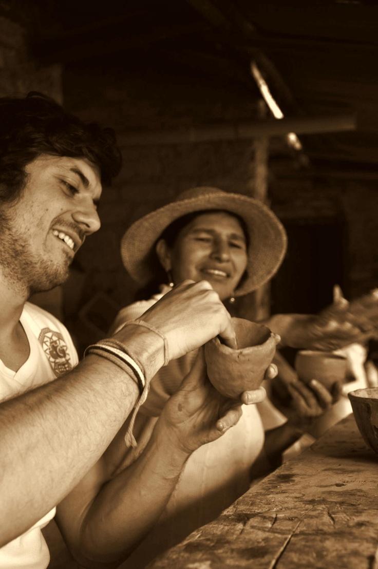 Clay Pottery workshop in Raquira more info http://www.morelocal.co/experiences/villa-de-leyva