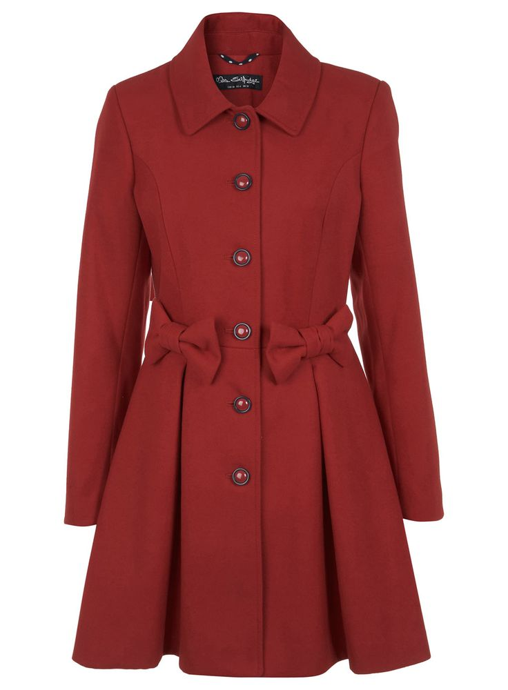 Red Bow Coat - View All - New In - Miss Selfridge