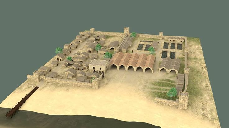 Modelado 3D de las Darsenas del Grao durante la Edad Media (Valencia, España).
