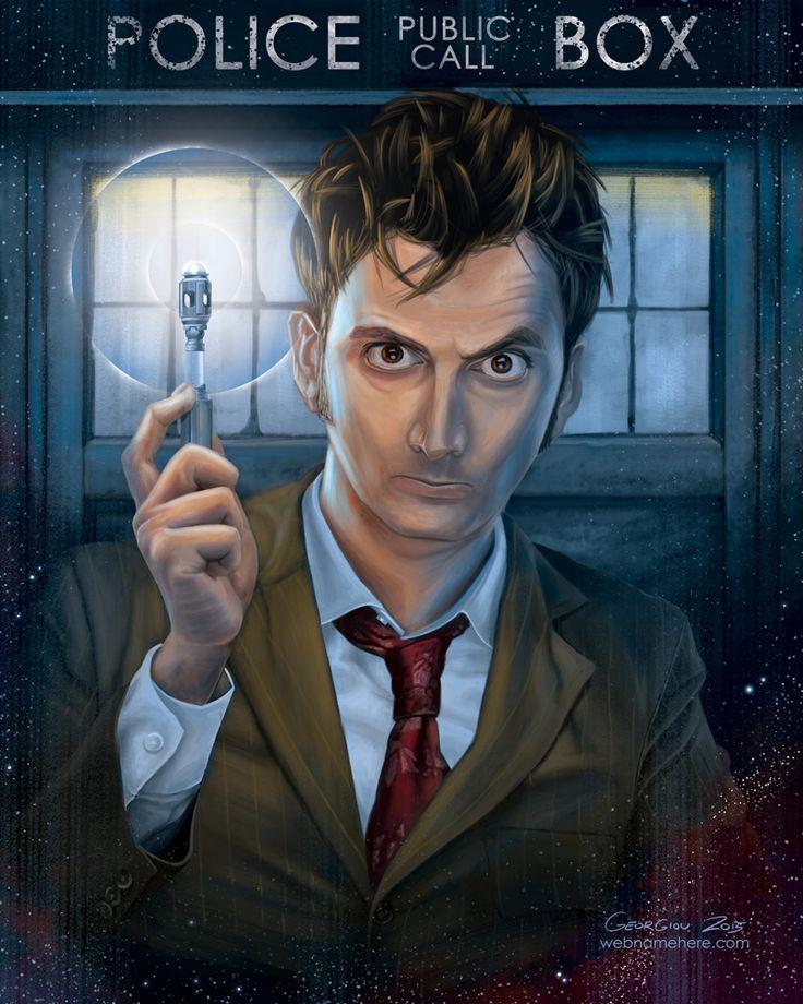DW Art,Doctor Who,Доктор кто, DW,фэндомы,10 Доктор,Десятый Доктор,Доктор (DW),Таймлорды,TARDIS,nick-georgiou
