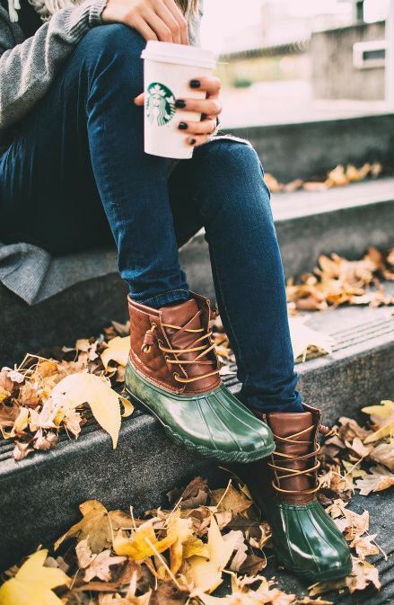 Sperry duck boots.