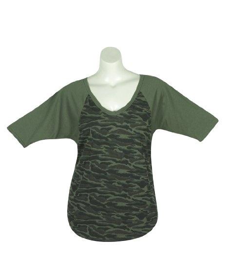 Amazon.com: Plus Size Green Camo Top: Clothing