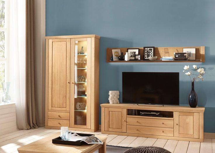 Wohnwand Verona Wohnzimmerschrank Holz Eiche Bianco Teilmassiv 20729 Buy Now At