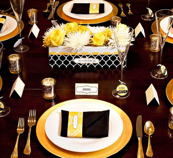 Black and Gold - oscar party