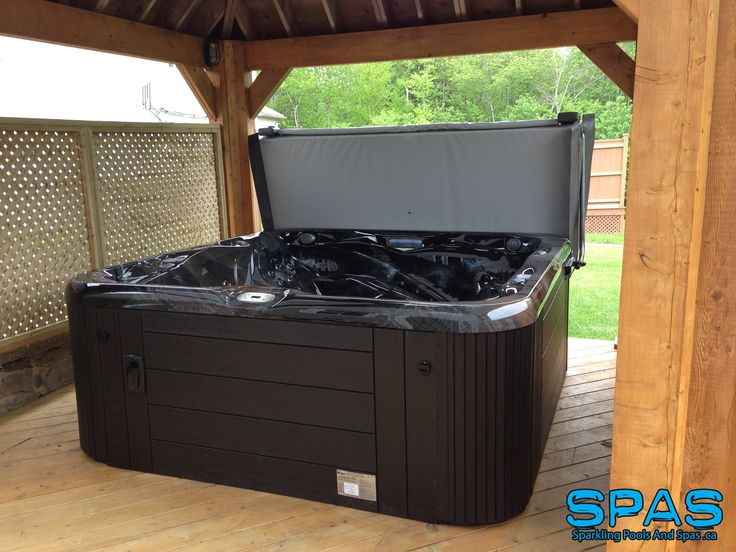 We delivered this Sunrise Spas Inspiration Line S105 to a happy customer in Halifax, NS We love the gazebo around the hot tub. Beautiful privacy screening. www.SparklingPoolsAndSpas.ca