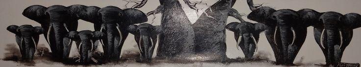 Family #Elephant #Art #Kilitingatinga