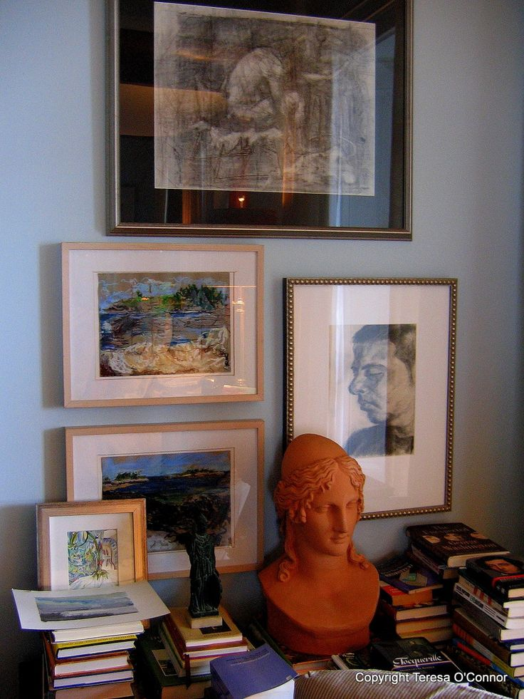 Books, bust and art--P Allen Smith/Moss Mountain Farm