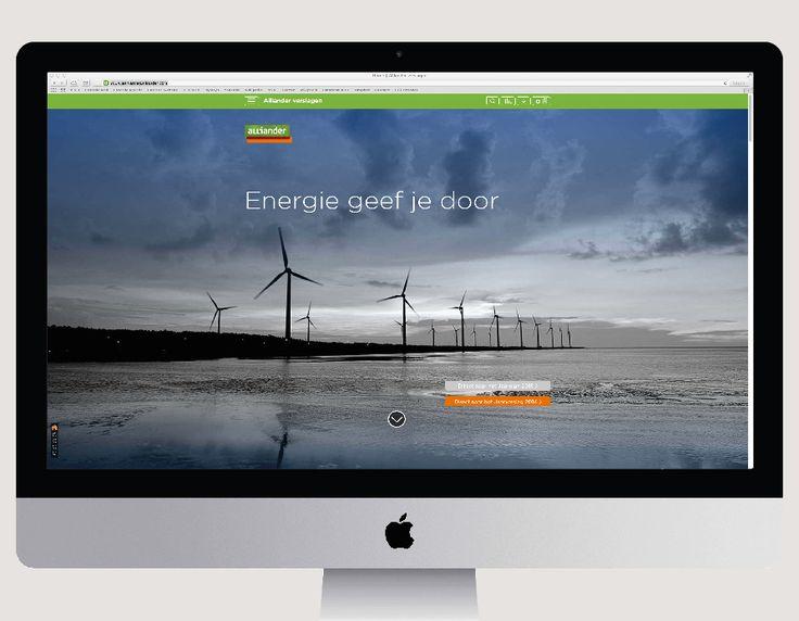 Website - Online Jaarverslag - Online reporting - Alliander - energiebedrijf - Ontwerp Cascade visuele communicatie Amsterdam
