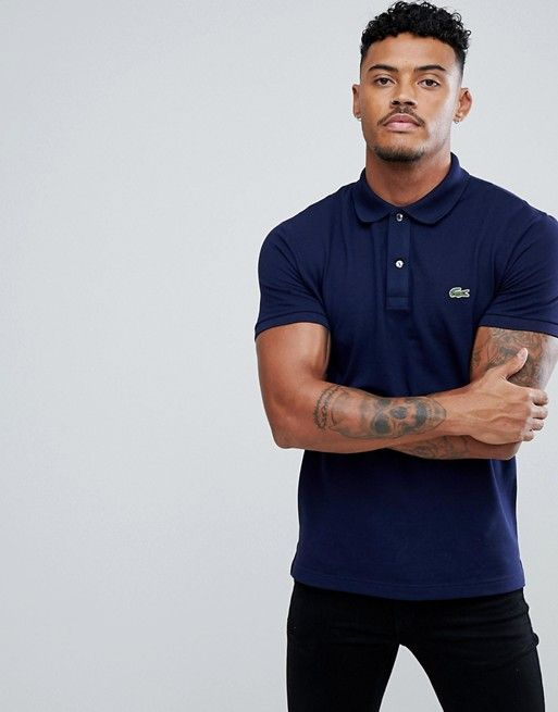 8db982cf4d Lacoste slim fit logo polo shirt in navy | To Buy | Lacoste polo ...