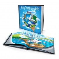 "Personalised Hard Cover Story Book:     ""Travels the World"" - from Australia / Dinkleboo"