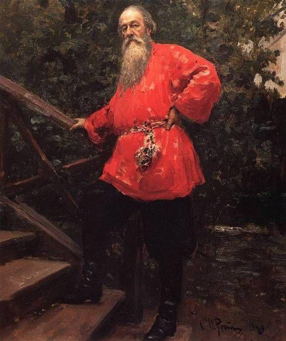 Πορτρέτο του κριτικού τέχνης Vladimir Stasov.(1889)
