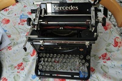 Antike Schreibmaschine Mercedes ca. 1935, Antique Typewriter from Mercedes ~1935 $99