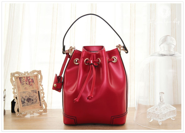 Leather drawstring satchel only £85 #gifts #fashion