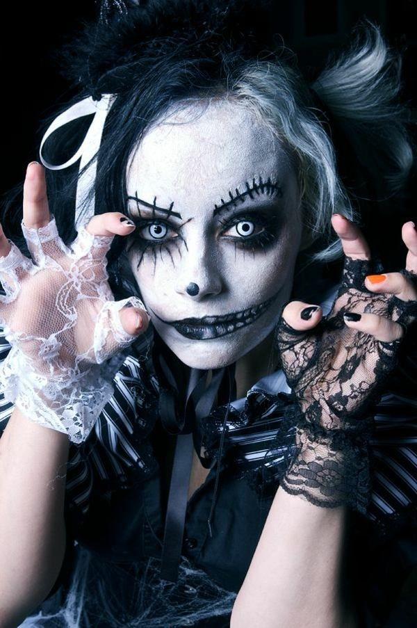 Halloween Schminke Geist Frau
