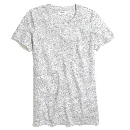 Linen Heathered Crewneck Tee - short sleeve - Women's TEES & MORE - Madewell