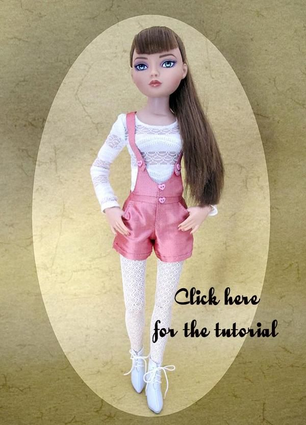 "Free pattern ""Batifolage en Forêt"", a short for Ellowyne  Inma's tutorial: Doll Clothes, Free Pattern, Dolls Shorts, Dolls Clothing, Dollmaking Al, Dolls 2, Dolls Minis, Dolls Toys, Dolls Patterns"