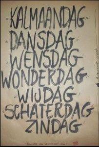 Posters 'De Nieuwe Week' nu te koop! Bruin van der Duim – Beeldend Kunstenaar.