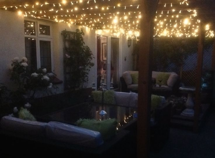 Outdoor Fairy Lights Beauteous 79 Best Fairy Light Summer House Images On Pinterest  Bedroom Ideas Design Decoration