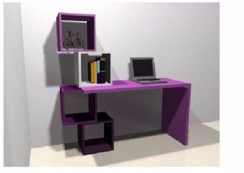 escritorio moderno mesa pc laptos mueble de oficina