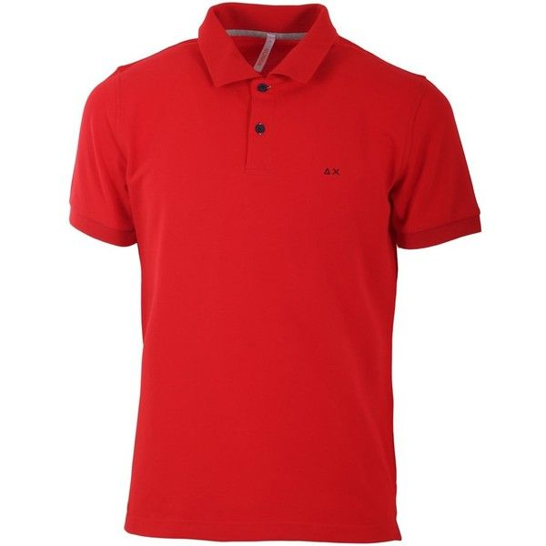 Sun 68 Sun 68 Men's Red Cotton Polo Shirt | Bluefly.Com ($96) ❤ liked on Polyvore featuring men's fashion, men's clothing, men's shirts, men's polos, red, mens red shirt, mens cotton shirts, mens polo shirts, men's cotton polo shirts and mens red polo shirt