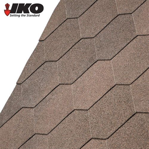 Best Iko Armourshield Hexagonal Roofing Shingles Dual Brown 3M2 Pack Brown Garden Projects 400 x 300