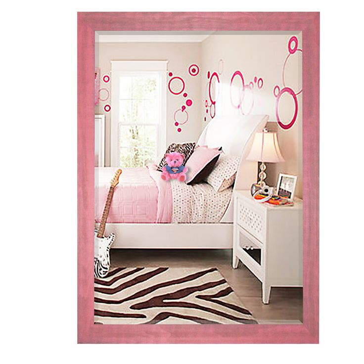 U.S. Made Vintage Pink Wall Mirror - R096 ~Suggested Retail~