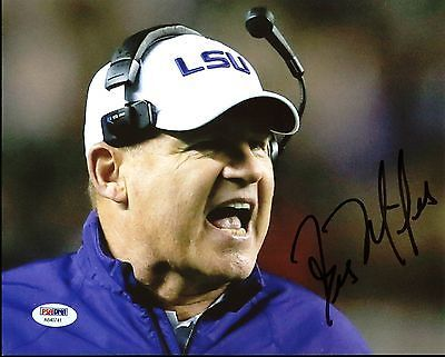 LSU Les Miles Authentic Signed 8X10 Photo Autographed PSA/DNA #AB40741