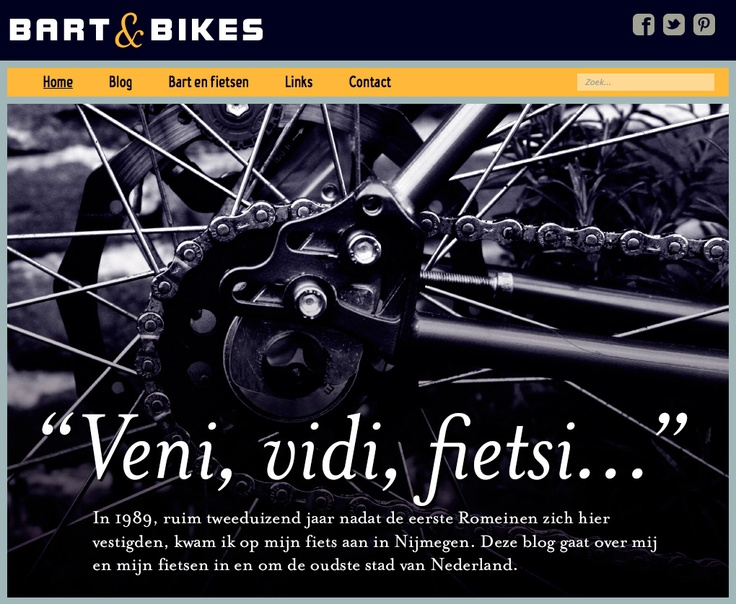 Website bartandbikes.nl - screenshot