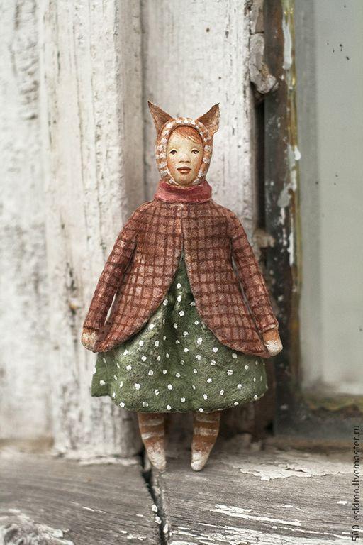 Ватная игрушка на ёлку Кошка - 500 эскимо - Ярмарка Мастеров