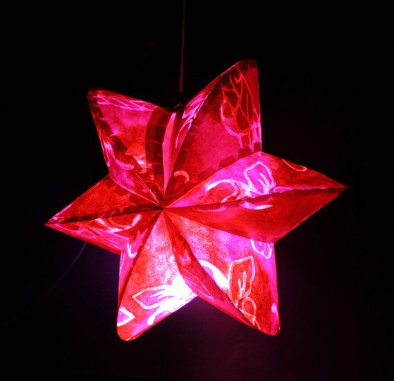 Red star paper l& hanging light Party Wedding by Umamiaoom $10.99 & 105 best Art Attack-Paper Stars images on Pinterest | Recycling ... azcodes.com