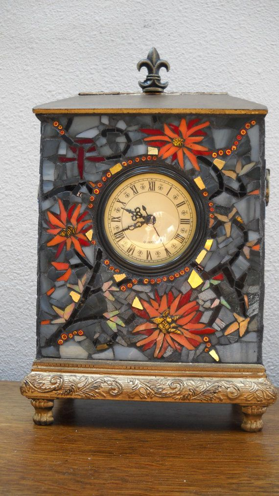 Precio bajado Reloj mosaico por BeMineForever en Etsy