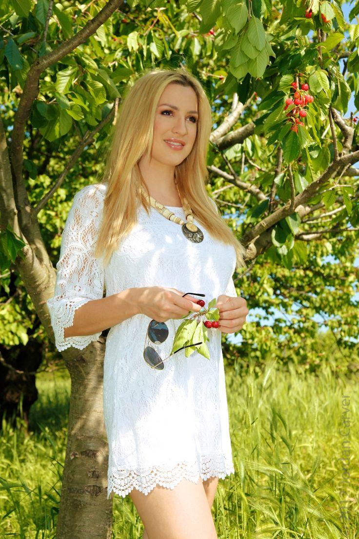 Jordan Carver preview of her newest set White Dress.Jordans Carver