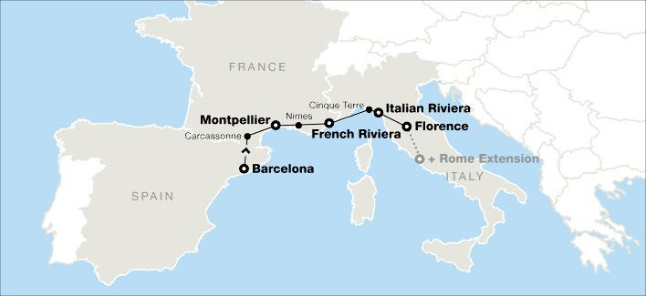 Barcelona, Southern France & the Italian Riviera With Go Ahead Tours- 12 days from 2499