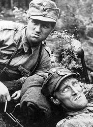 Tuntematon sotilas  (The Unknown Soldier),    Åke Lindman ja Veikko Sinisalo (on the left) ||  Veikko Sinisalo (30 September 1926 – 16 December 2003) was a Finnish actor. He appeared in 24 films and television shows between 1954 and 2002. --  http://en.wikipedia.org/wiki/Veikko_Sinisalo