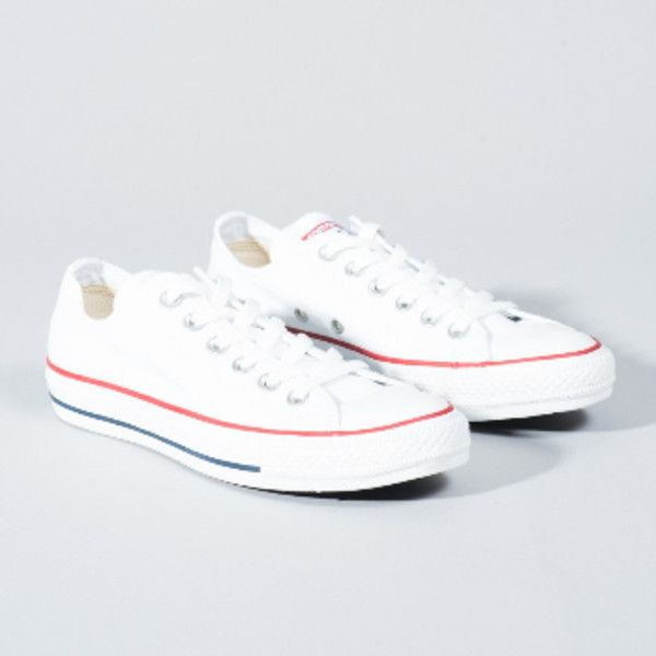 Converse Women's White All Star Core Ox Trainers ($59) ❤ liked on Polyvore featuring shoes, sneakers, converse trainers, converse footwear, rubber sole shoes, white trainers and converse sneakers