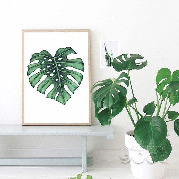 Plam Leaf Canvas Art Print 3