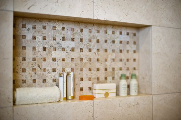 Tiled Shower Shelf | Glave and Holmes Architecture, Ansel Olson Photography