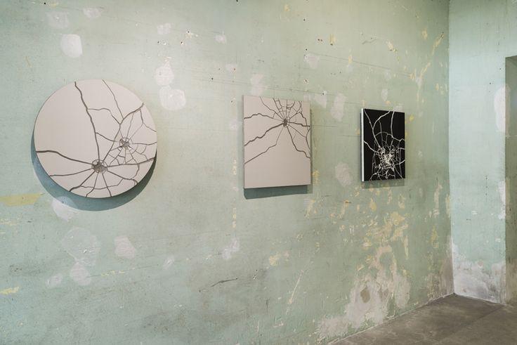 Zhanna Kadyrova, Shots, series , 014, ceramic, plaster, particle board, glue, 60 x 60 x 2 cm. Galleria Continua Les Moulins, 2015. Photo by Oak Taylor-Smith