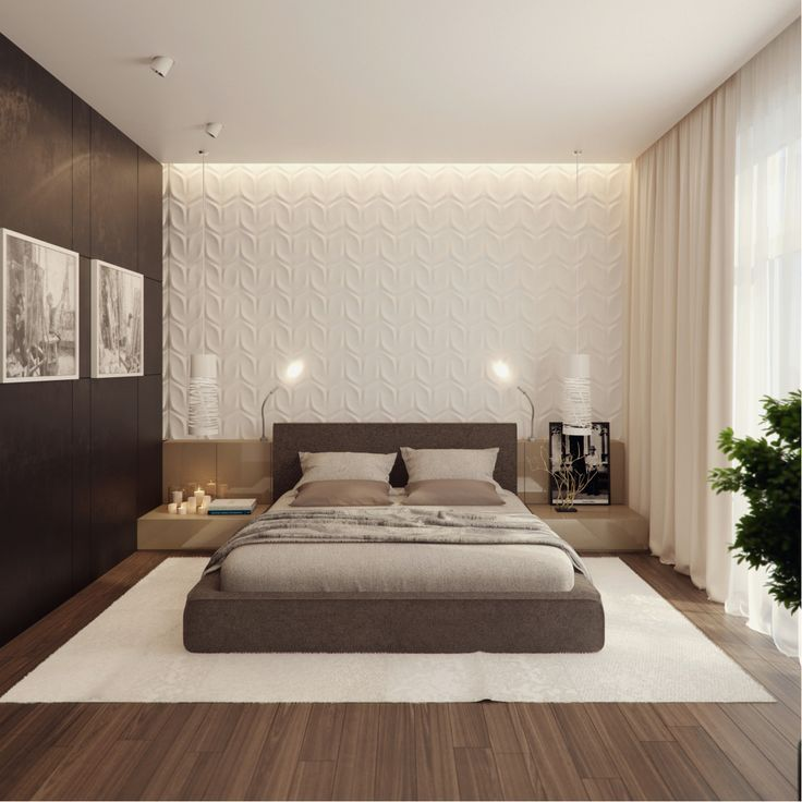 Best 25 modern bedrooms ideas on pinterest modern bedroom modern bedroom decor and modern - Wall designs bedroom ...
